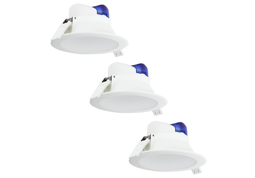 Complete set of 3 pieces LED Downlight Convexo 7 Watt 6000K IP44 White