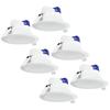 Aigostar Complete set met 6 stuks LED Inbouwspot Convexo 7 Watt 6000K IP44 Wit