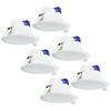 Complete set of 6 pieces LED Downlight Convexo 7 Watt 6000K IP44 White