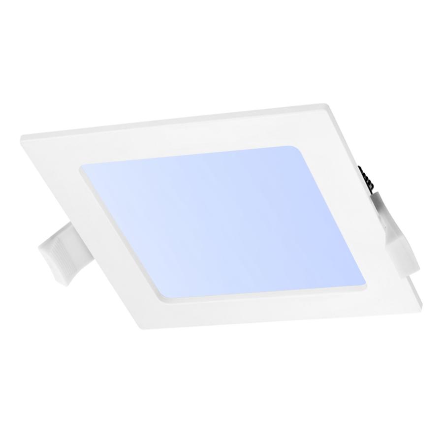 LED-Einbauleuchte viereckig 12 Watt 6000K 860lm Ø155 mm