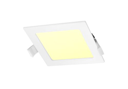 LED Downlight square 12 Watt 3000K 750lm Ø155 mm