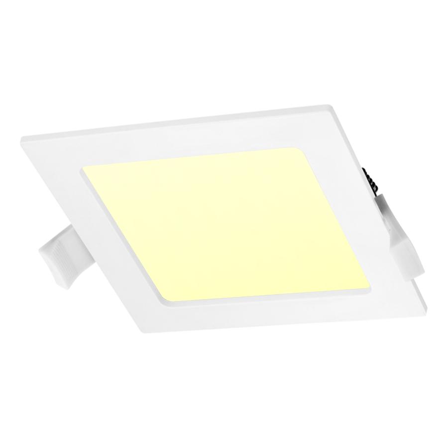 LED-Einbauleuchte viereckig 12 Watt 3000K 750lm Ø155 mm