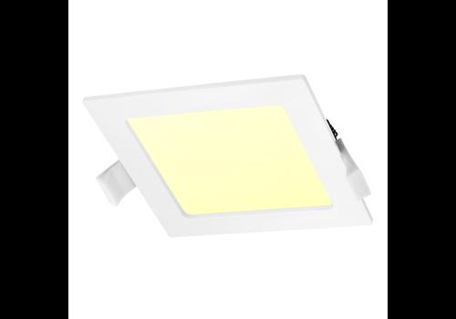 LED-Einbauleuchte viereckig 18 Watt 3000K 1300lm Ø205 mm