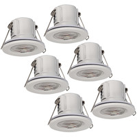 Samsung complete set of 6 pieces dimmable LED downlights Malta 5 Watt warm white IP65