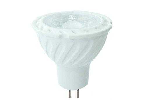 MR16 LED spot 6,5 Watt 12V DC 450lm warmwit 3000K (vervangt 55W) 5 jaar garantie