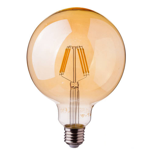 Dimmable LED filament bulb G95 with E27 fitting 6 Watt 500lm super warm white 2200K
