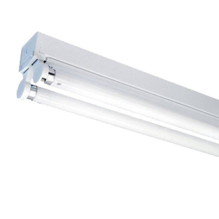 10x TL armatuur 150 cm dubbelvoudig incl. 2x24W 6000K LED buizen