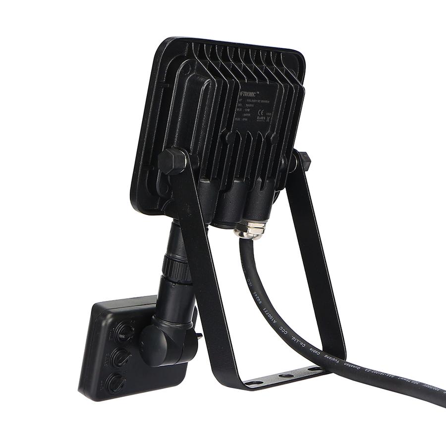 LED Floodlight with motion sensor 10 Watt 6400K Osram IP65 replaces 90 Watt