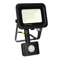 LED Floodlight with motion sensor 20 Watt 6400K Osram IP65 replaces 180 Watt