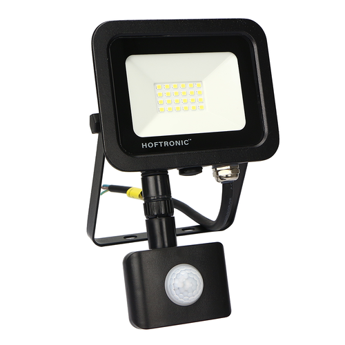 HOFTRONIC™ LED Floodlight with motion sensor 20 Watt 6400K Osram IP65 replaces 180 Watt