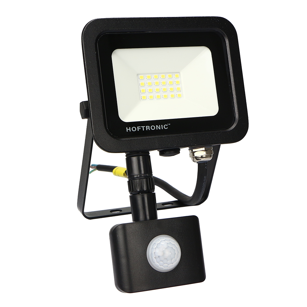 LED-Fluter mit Bewegungssensor 20 Watt 6400K Osram IP65 ersetzt 180 Watt