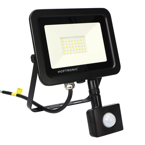 HOFTRONIC™ LED Floodlight with motion sensor 30 Watt 4000K Osram IP65 replaces 270 Watt