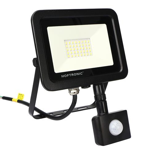 HOFTRONIC™ LED-Fluter mit Bewegungssensor 30 Watt 6400K Osram IP65 ersetzt 270 Watt