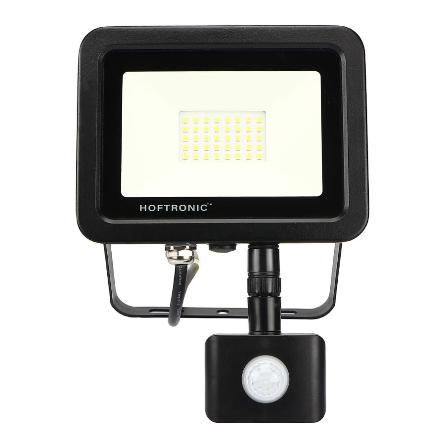 LED Floodlight with motion sensor 30 Watt 6400K Osram IP65 replaces 270 Watt