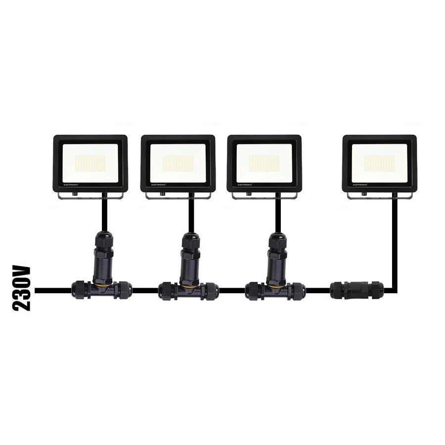 LED-Fluter mit Bewegungssensor 50 Watt 4000K Osram IP65 ersetzt 450 Watt