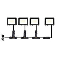 LED Floodlight with motion sensor 50 Watt 6400K Osram IP65 replaces 450 Watt