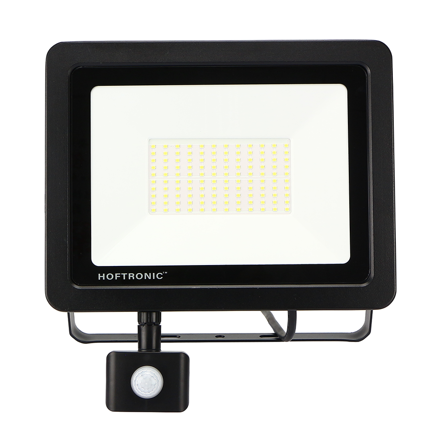 LED Floodlight with motion sensor 100 Watt 6400K Osram IP65 replaces 1000 Watt