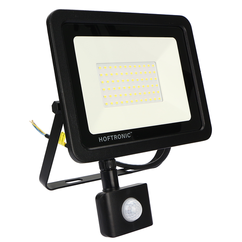 HOFTRONIC™ LED Floodlight with motion sensor 50 Watt 4000K Osram IP65 replaces 450 Watt