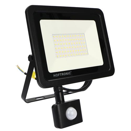 HOFTRONIC™ LED Floodlight with motion sensor 50 Watt 6400K Osram IP65 replaces 450 Watt