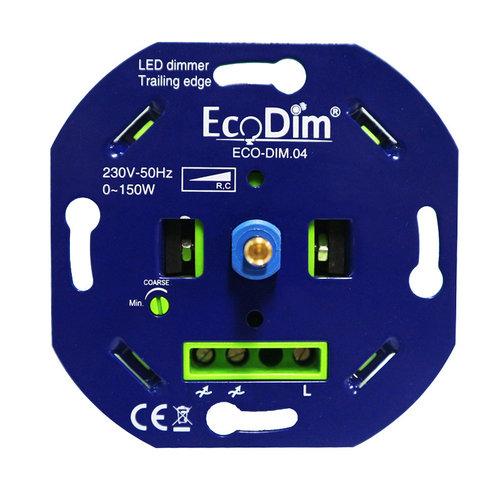 Ecodim LED dimmer 0-150 Watt fase afsnijding (max. 8 led lampen)