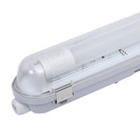 6x LED TL armatuur IP65 150 cm Koppelbaar 6000K incl. 24W LED buis RVS Clips