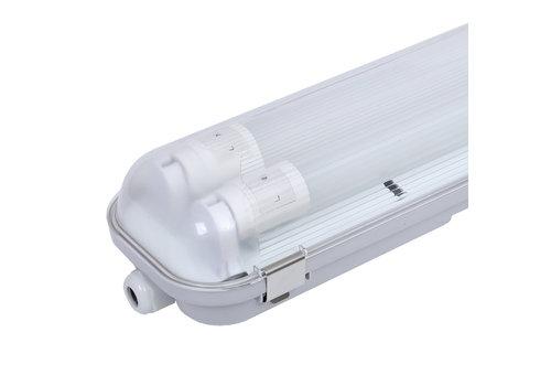 HOFTRONIC™ 10-Pack LED Wannenleuchten IP65 120 cm Inkl. 2x18 Watt Samsung High Lumen LED Röhren 6400K
