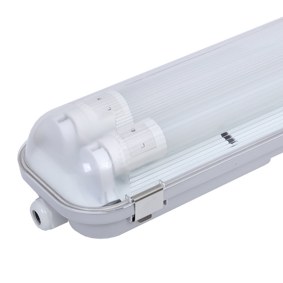 10-pack LED TL armaturen 120 cm IP65 incl. 2x18W Samsung High Lumen LED buizen 6400K 4500lm