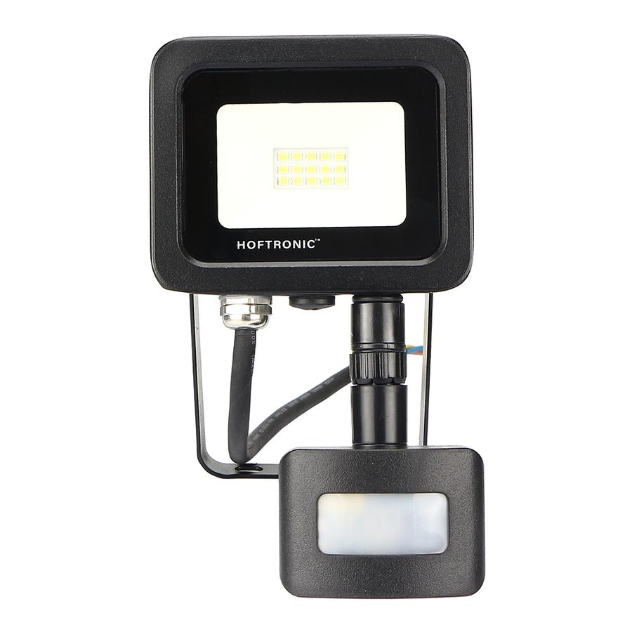 LED Floodlight with twilight switch 10 Watt 4000K Osram IP65 replaces 90 Watt