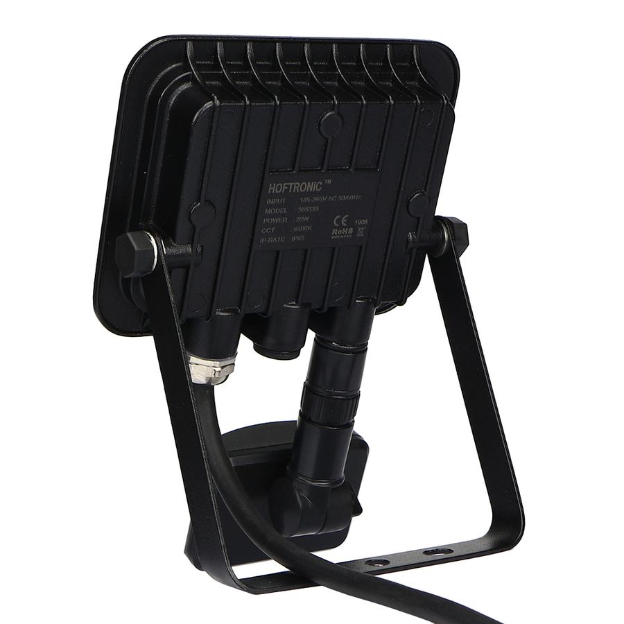 LED Floodlight with twilight switch 20 Watt 6400K Osram IP65 replaces 180 Watt