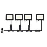 LED Breedstraler met schemerschakelaar 30 Watt 4000K Osram IP65 vervangt 270 Watt