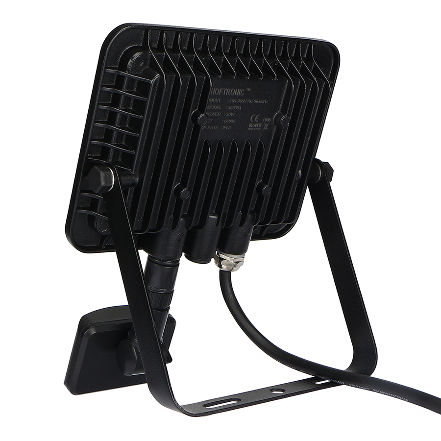 LED Floodlight with twilight switch 30 Watt 6400K Osram IP65 replaces 270 Watt