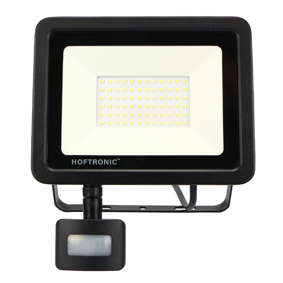 LED Floodlight with twilight switch 50 Watt 4000K Osram IP65 replaces 450 Watt