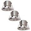 Samsung Complete set of 3 pieces dimmable LED downlights Malta 5 Watt IP65 Chrome