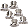 Samsung complete set of 6 pieces dimmable LED downlights Malta 5 Watt P65 Chrome