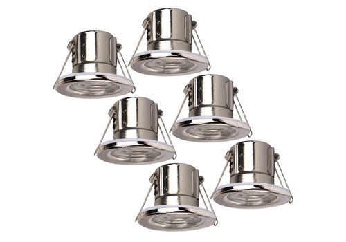 Samsung Samsung complete set of 6 pieces dimmable LED downlights Malta 5 Watt P65 Chrome