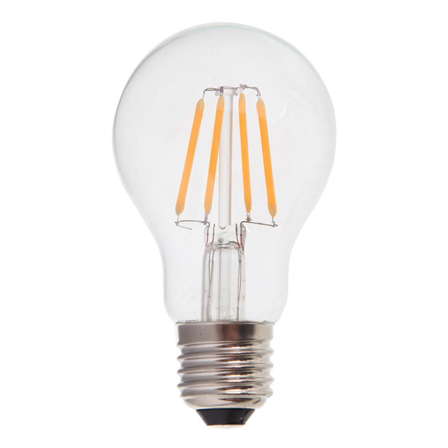 Dimmable LED filament bulb E27 4 Watt 400lm 2700K extra warm white