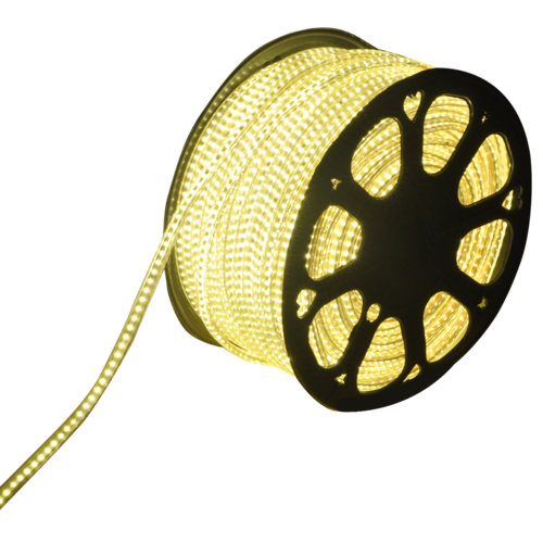 LED-Lichtschlauch flach 50m Farbe 3000K 60 LEDs/m IP65 Plug & Play