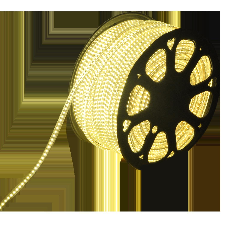 LED Lichtslang plat 50m kleur 3000K warm wit 180 LEDs/m IP65 Plug & Play