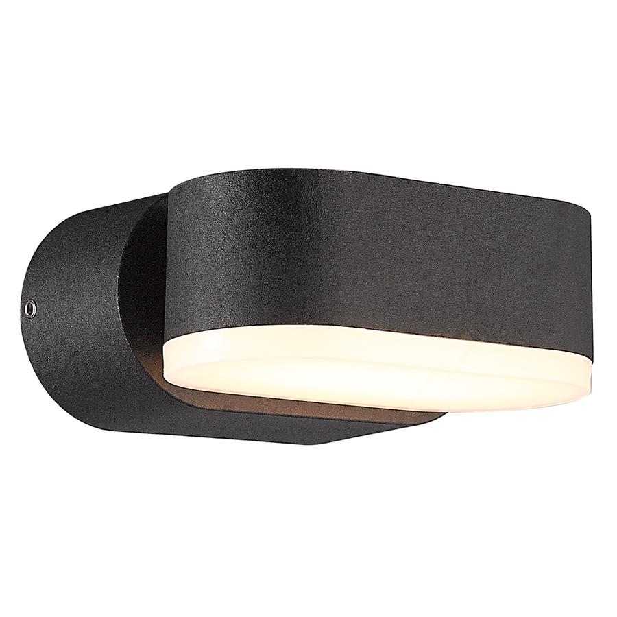 Dimbare LED Wandlamp Dayton zwart 6 Watt 3000K kantelbaar IP54 spatwaterdicht 3 jaar garantie