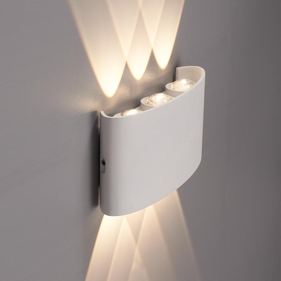 Dimbare LED Wandlamp Tulsa wit 6 Watt 3000K tweezijdig oplichtend IP54