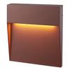 HOFTRONIC™ Dimbare LED Wandlamp Logan corten 6 Watt 3000K IP54 spatwaterbestendig 3 jaar garantie