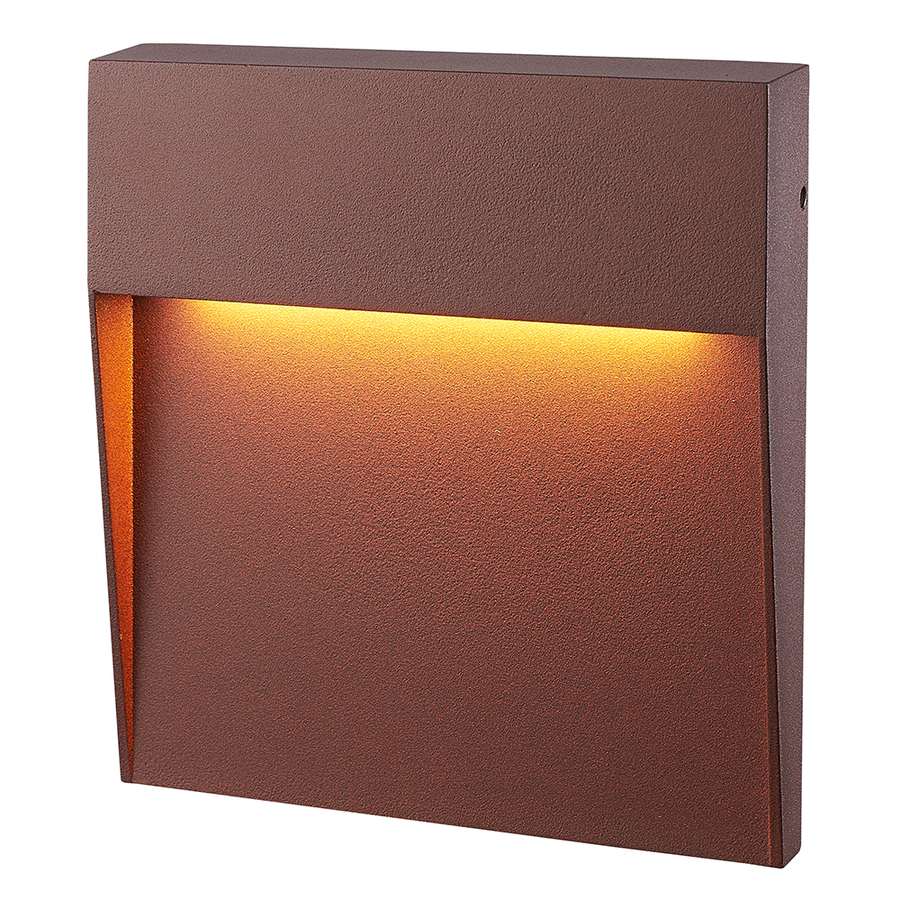 Dimbare LED Wandlamp Logan corten 6 Watt 3000K IP54 spatwaterbestendig 3 jaar garantie