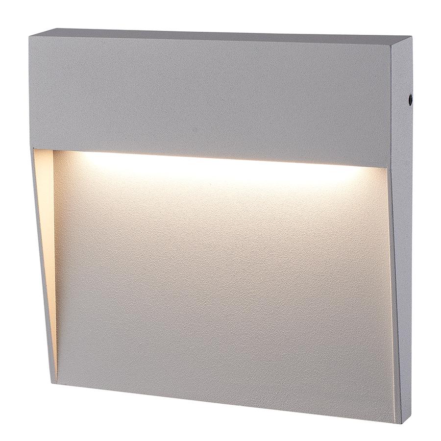 Dimbare LED Wandlamp Logan grijs 6 Watt 3000K IP54 spatwaterbestendig 3 jaar garantie