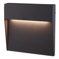 Dimbare LED Wandlamp Logan Antraciet 6 Watt 3000K IP54 spatwaterbestendig 3 jaar garantie