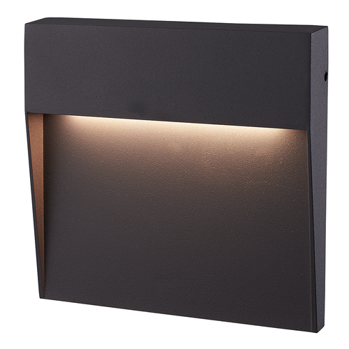 HOFTRONIC™ Dimbare LED Wandlamp Logan Antraciet 6 Watt 3000K IP54