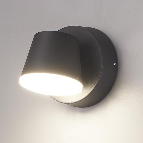 HOFTRONIC™ LED Wandlamp Memphis zwart 6 Watt 3000K kantelbaar IP54
