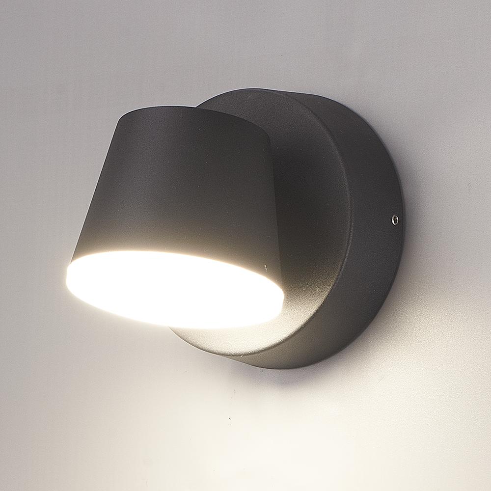 LED Wandlamp Memphis zwart 6 Watt 3000K kantelbaar IP54 spatwaterdicht 3 jaar garantie