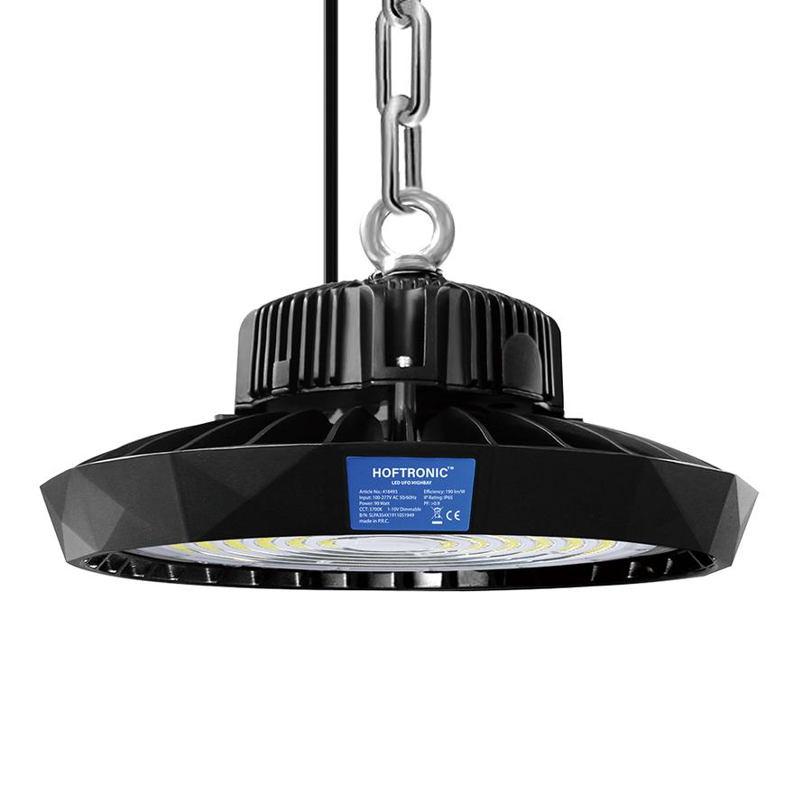 LED Highbay 90W Dimmbar 5700K Bridgelux IP65 17.100lm [190lm/W] 120° 5 Jahre Garantie