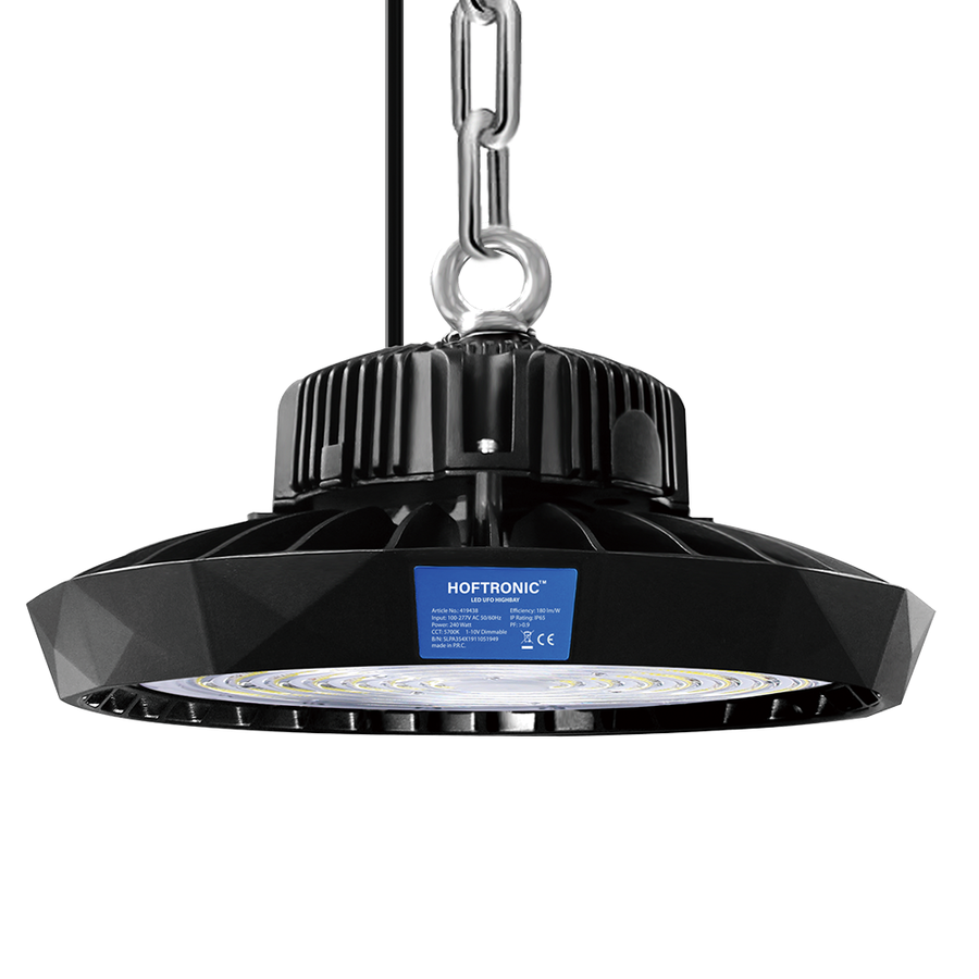 LED Highbay 240W Dimmable 5700K Hoftronic™ IP65 43.200lm 190lm/W 120° Beam angle 50.000 hours lifespan 5 year warranty