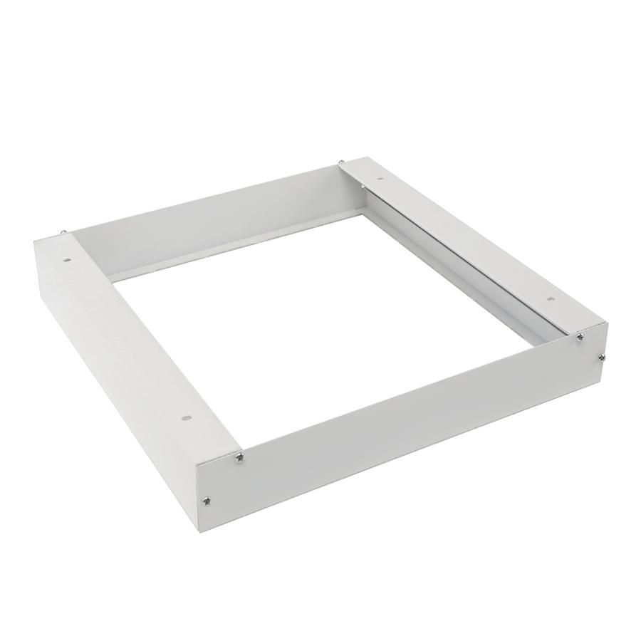 Aufputzrahmen für LED-Panel 30x30 Farbe Weiß inklusive Schrauben